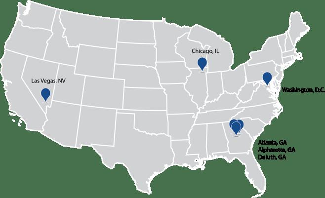 PBD Fulfillment Locations Map - US